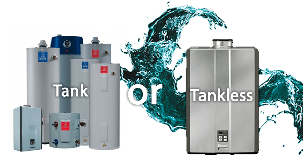 Traditional Water Heater or Tankless Water Heater With Infographic