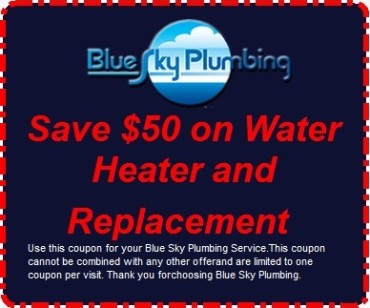 Save $50 on Water Heater and Replacement